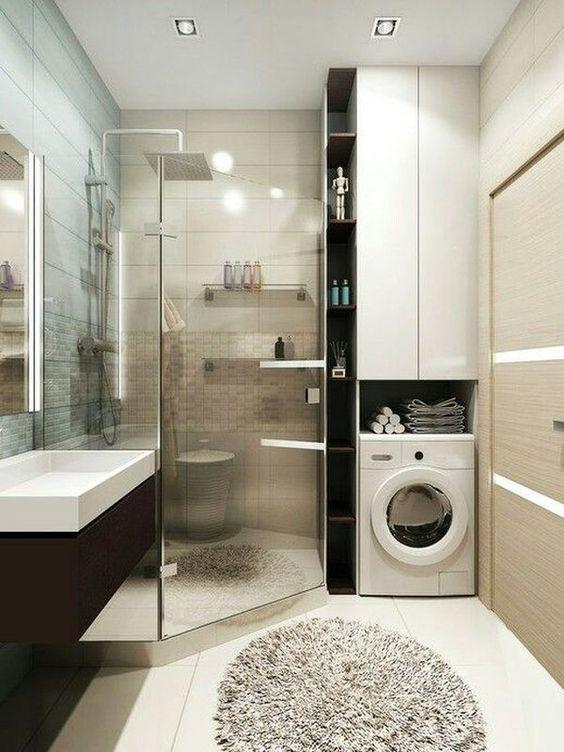 相比于传统装修的复杂施工,整体浴室只需要螺钉和粘合剂,两个人花最多